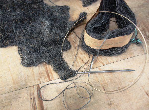 enkeldraads handgesponnen wol
